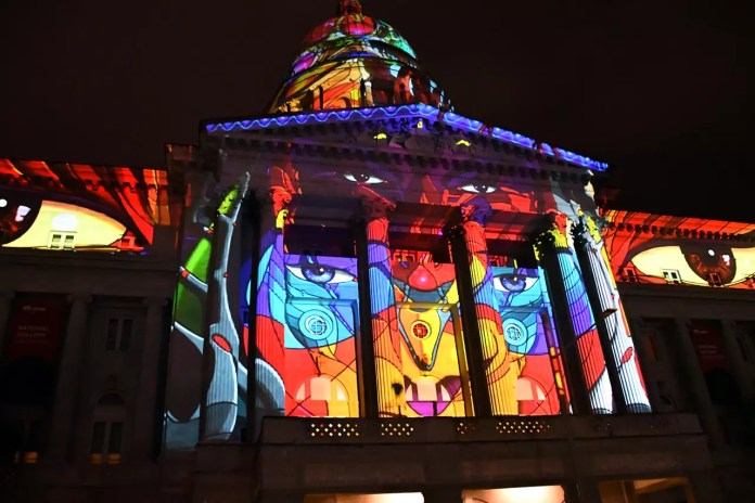 National Gallery Singapore Art Projection Show.