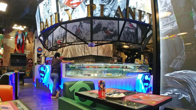 DC Super Heroes Cafe Takashimaya Pastry Counter.