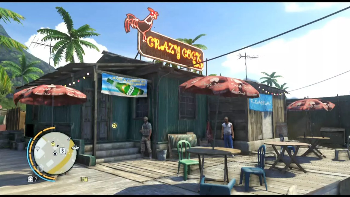 Video game shanty town.