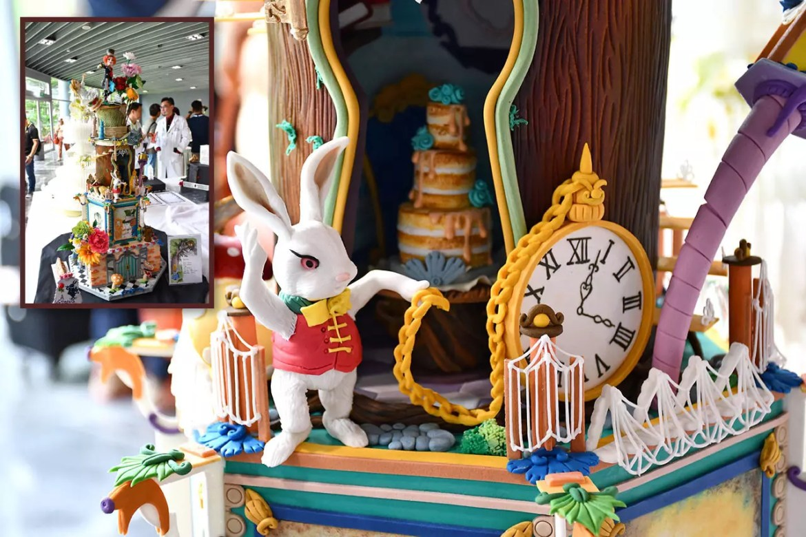 FHA 2018 Pastry Showpieces - Alice in Wonderland Wedding Cake.