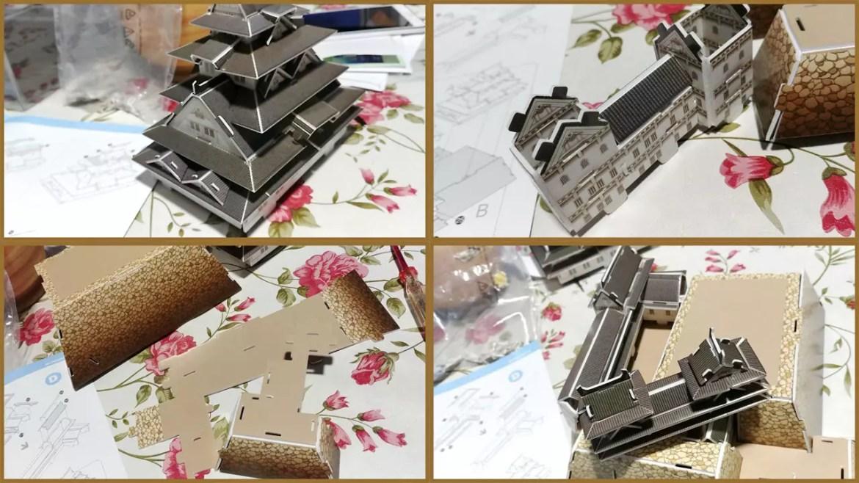 Assembling CubicFun Himeji-Jo.