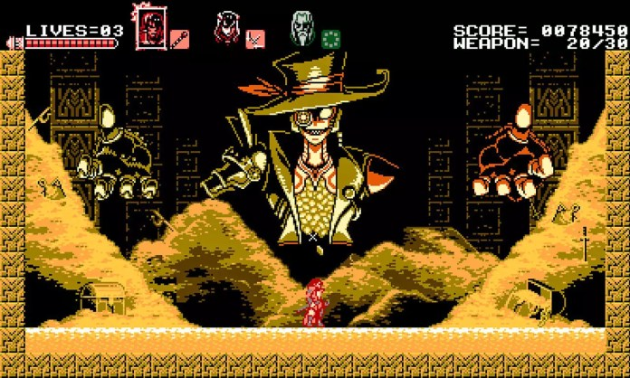 Bloodstained: Curse of the Moon Stage 3 Boss Fight using Zangetsu