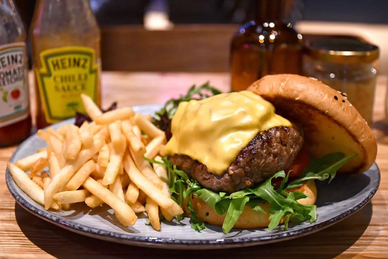Benjamin Barker Classic Cheese Burger.