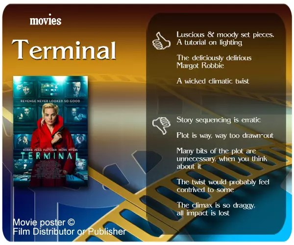Terminal (2018 Film) review - 3 thumbs up and 5 thumbs down.