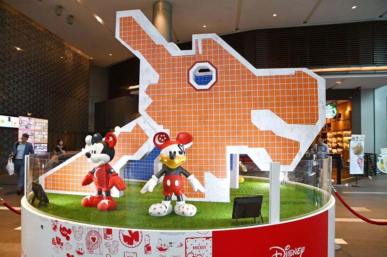 Mickey Go Local Campaign @ Raffles City.