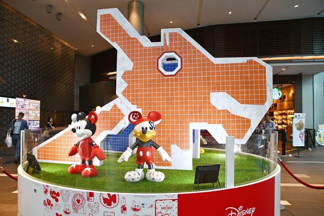 Mickey Go Local Campaign @ Raffles City.