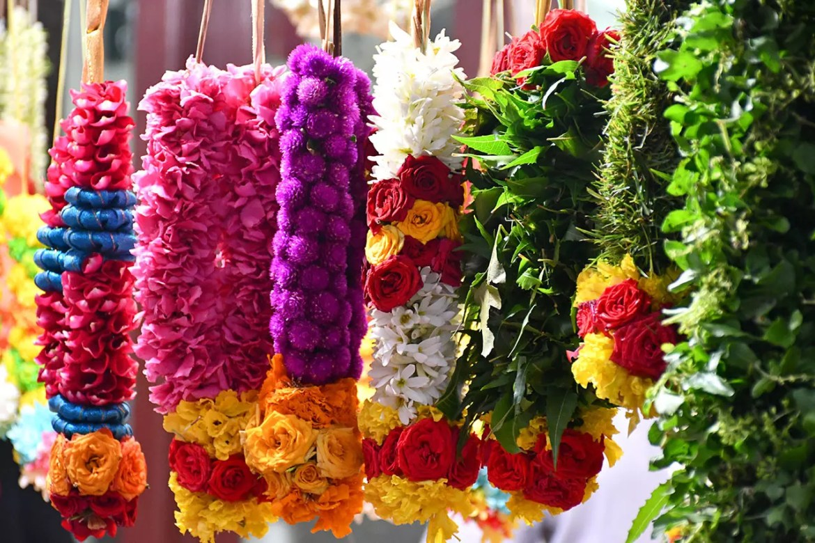 Indian garlands in Singapore