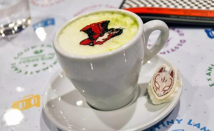 Persona 5: the Animation Café (Osaka Outlet) | Matcha Latte