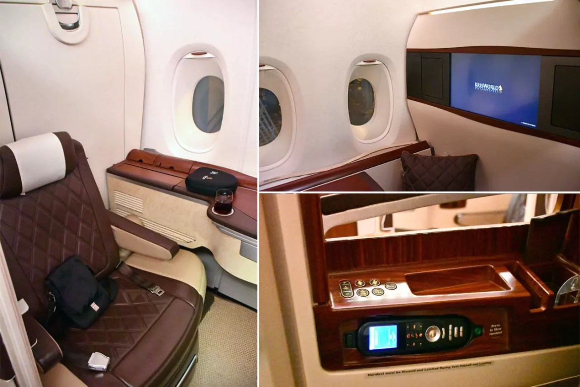 Singapore Airlines Suites A380 Cabin