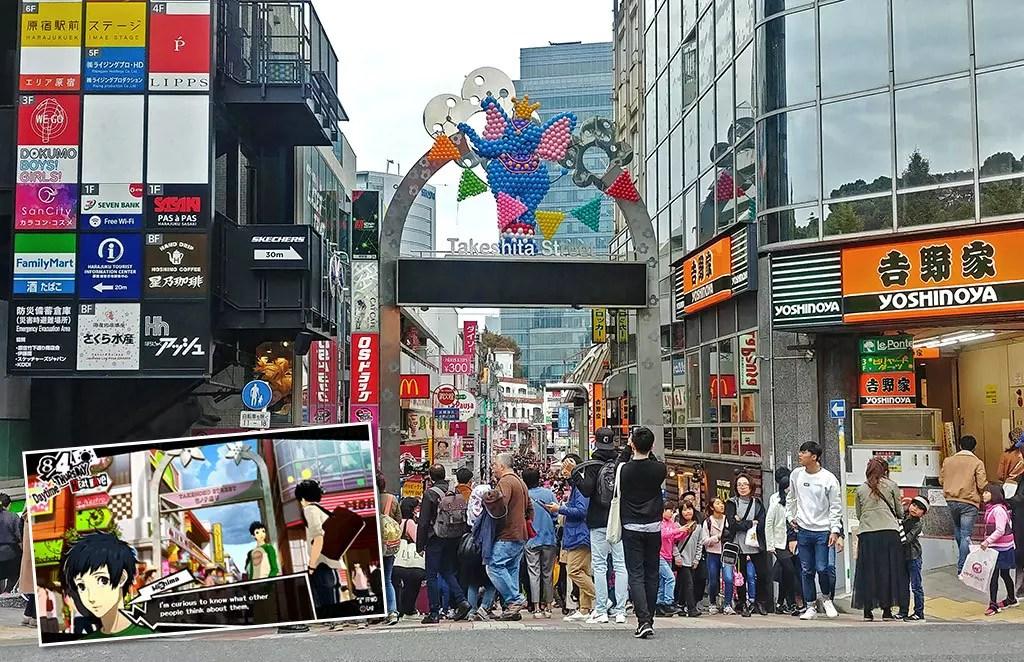 Persona 5 Tokyo Attractions   Harajuku Takeshita Street