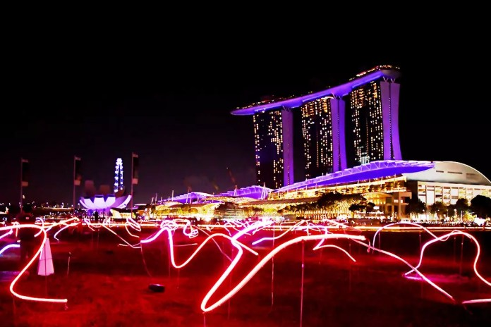 Light painting at Singapore.