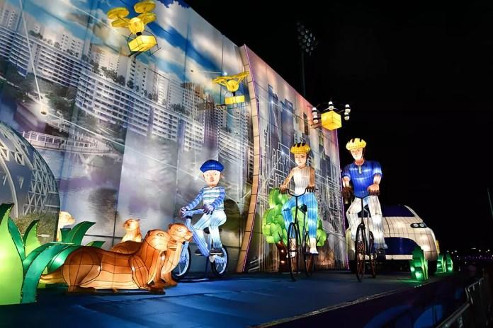 """Our Garden, Our Home"" Lantern Diorama to celebrate Singapore's Bicentennial."
