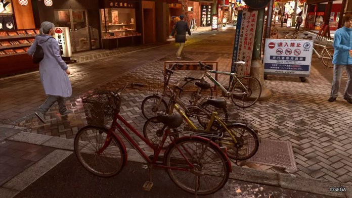 Yakuza 2 Kiwami Sotenbori Screenshot | Street Bicycles