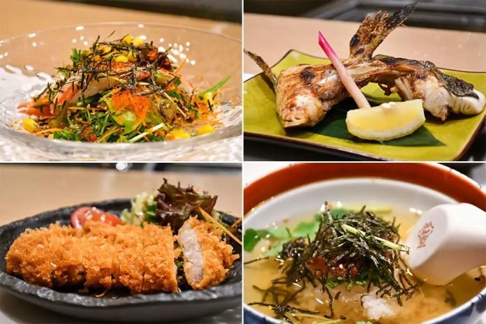 Shinzo Japanese Cuisine Ala Carte Dishes.