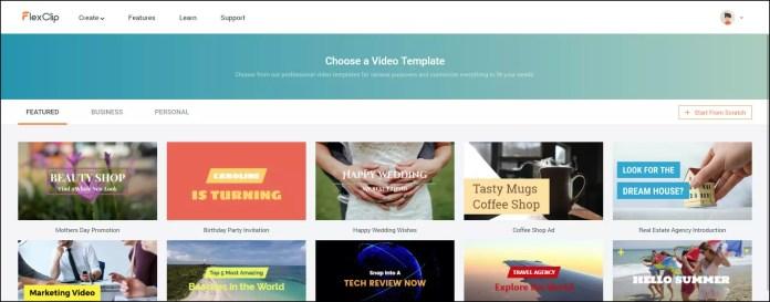 Flexclip Free Video Maker.