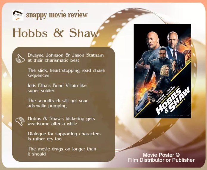 Hobbs & Shaw Movie Review: 4 thumbs-up and 3 thumbs-down.
