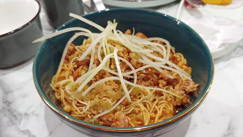 Szechuan Dan Dan Noodles at Kai Duck Restaurant.