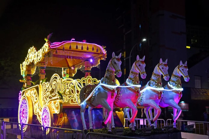 Indian Chariot at Little India Deepavali Celebrations.