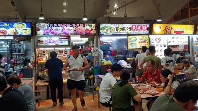 Chong Pang Market food stalls.