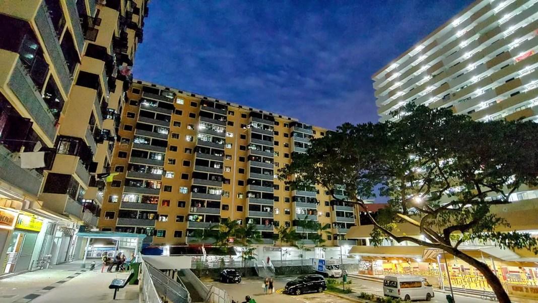 Evening time Jalan Kukoh Estate.