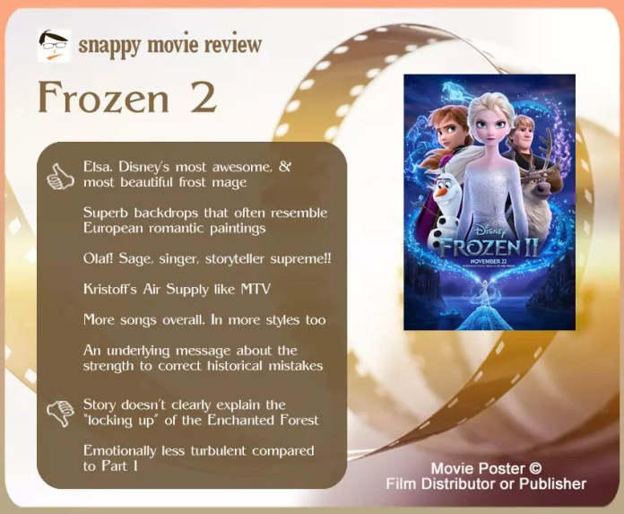 Frozen 2 review: 6 thumbs-up and 2 thumbs-down.