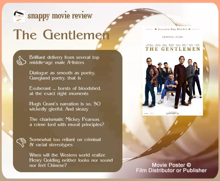 The Gentlemen Movie Review: 5 thumbs-up and 2 thumbs-down.