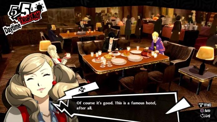 Persona 5 Royal Buffet Scene.