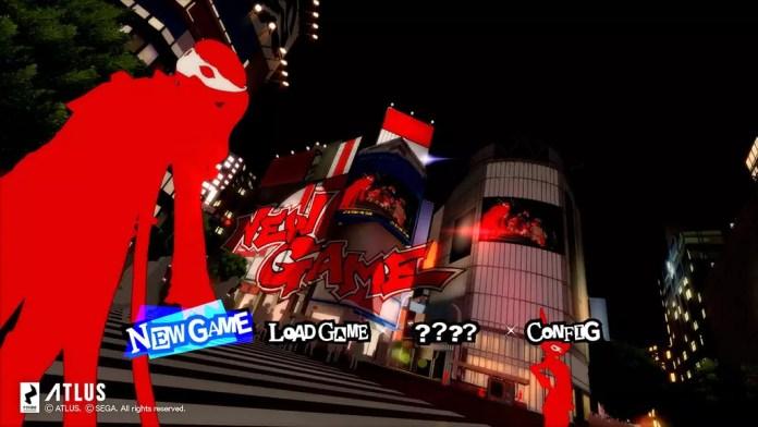 Persona 5 Royal Title Screen.