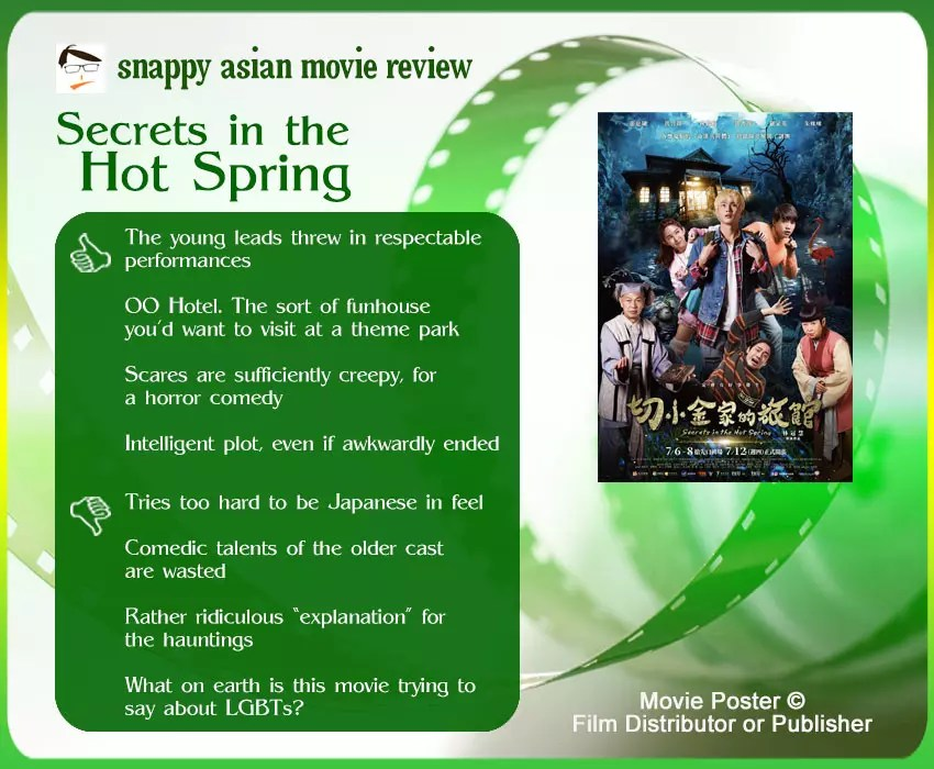 Secrets in the Hot Spring Review: 4 thumbs-up and 4 thumbs-down.