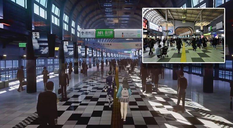 Shin Megami Tensei V Shinagawa Station.