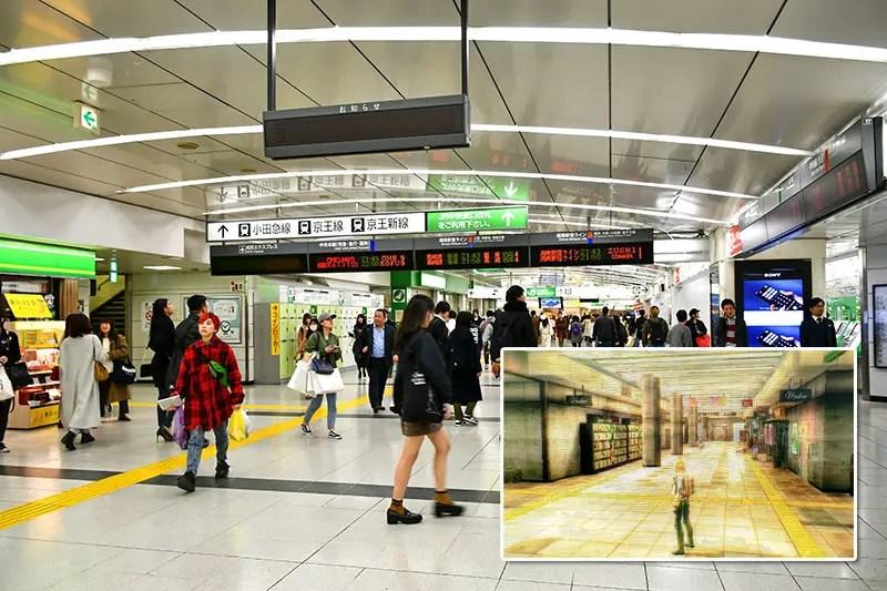 Real-life Shinjuku Station vs SMT IV Apocalypse Shinjuku Station.