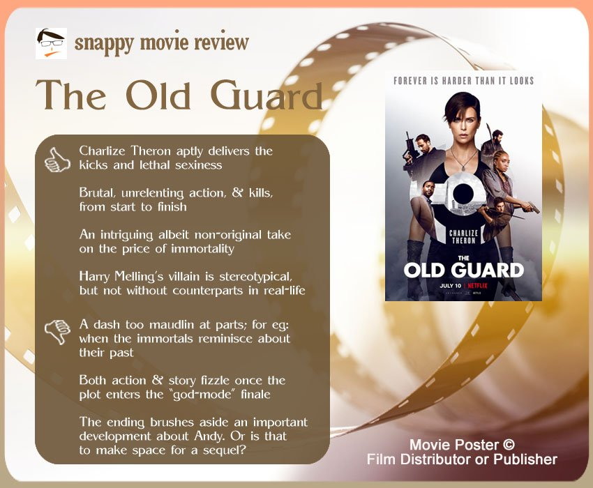 The Old Guard Review: 4 thumbs-up and 3 thumbs-down.
