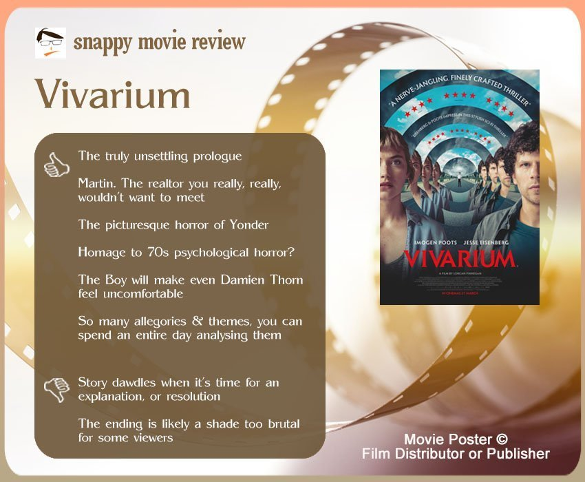 Vivarium Review: 6 thumbs-up and 2 thumbs-down.