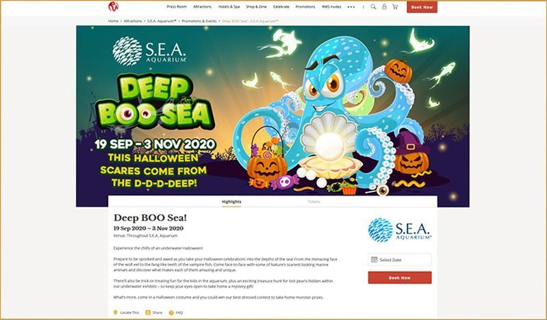 S.E.A. Aquarium Deep BOO Sea!