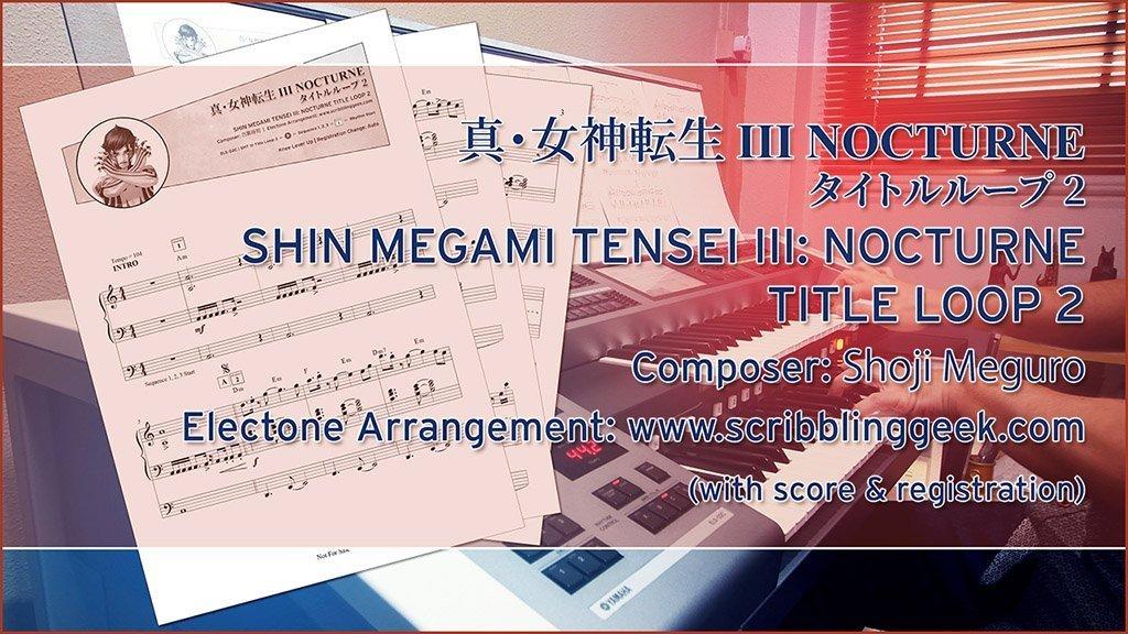 Shin Megami Tensei III: Nocturne Title Loop 2 Electone Score