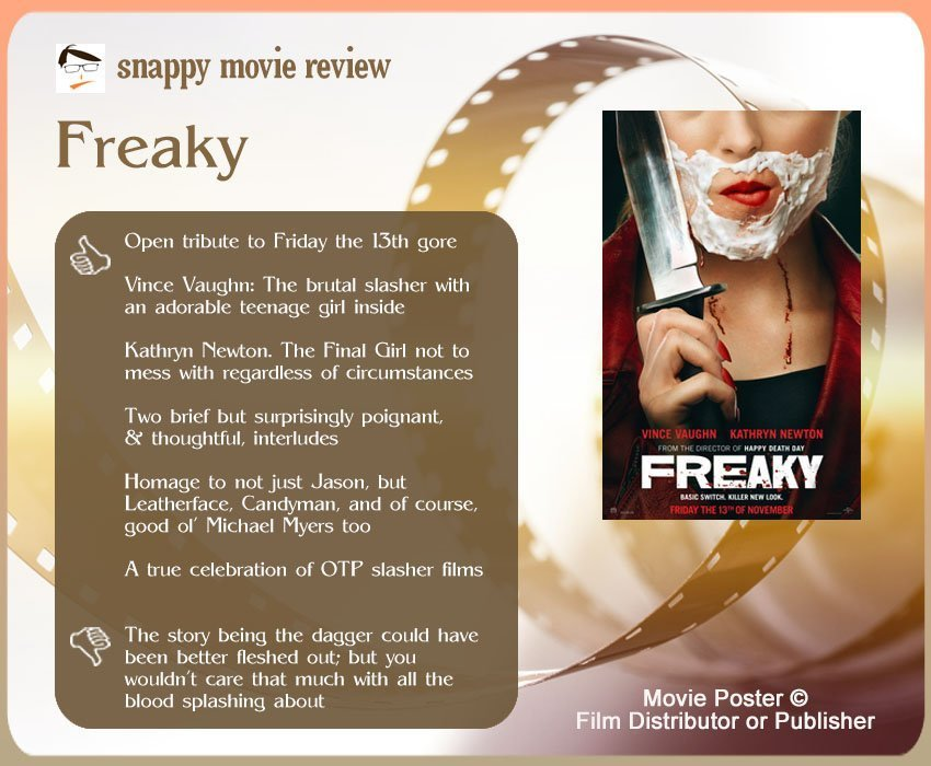 Freaky (2020) Movie Review: 6 thumbs-up and 1 thumbs-down.