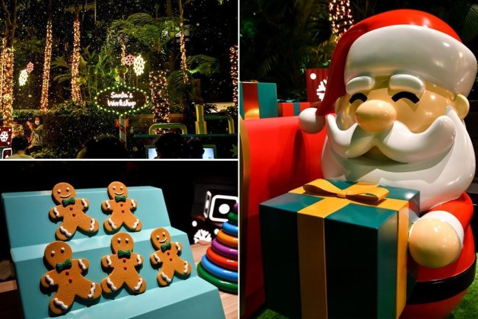 Shiseido Forest Valley Christmass Decorations