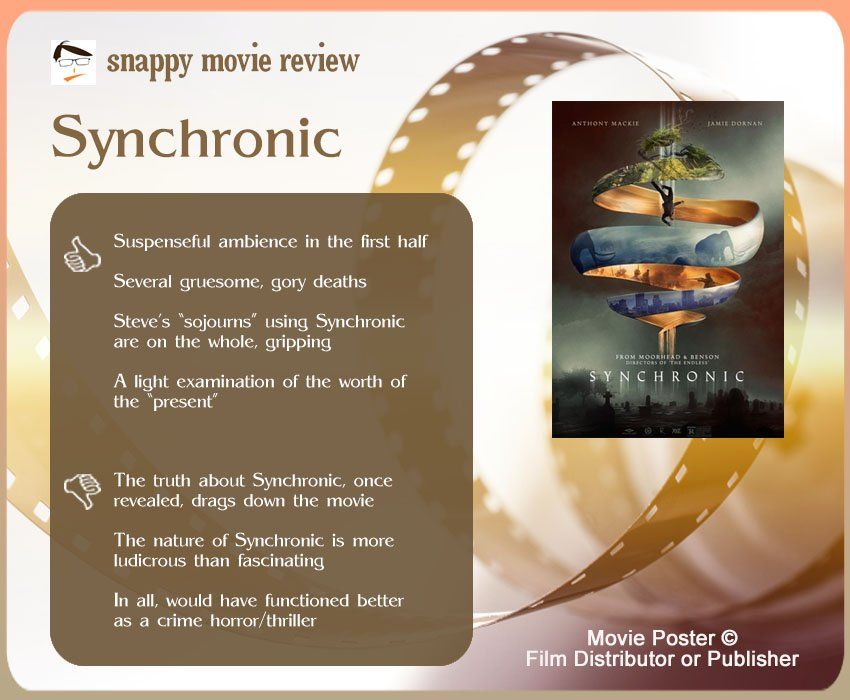 Synchronic Movie Review: 4 thumbs-up and 3 thumbs-down.