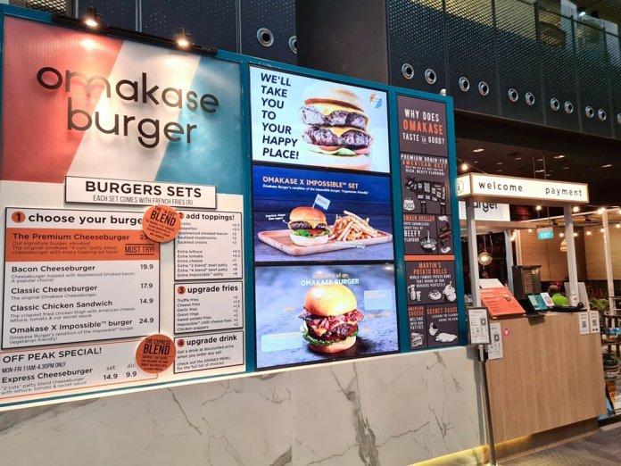 Omakase Burger Orchard Central.