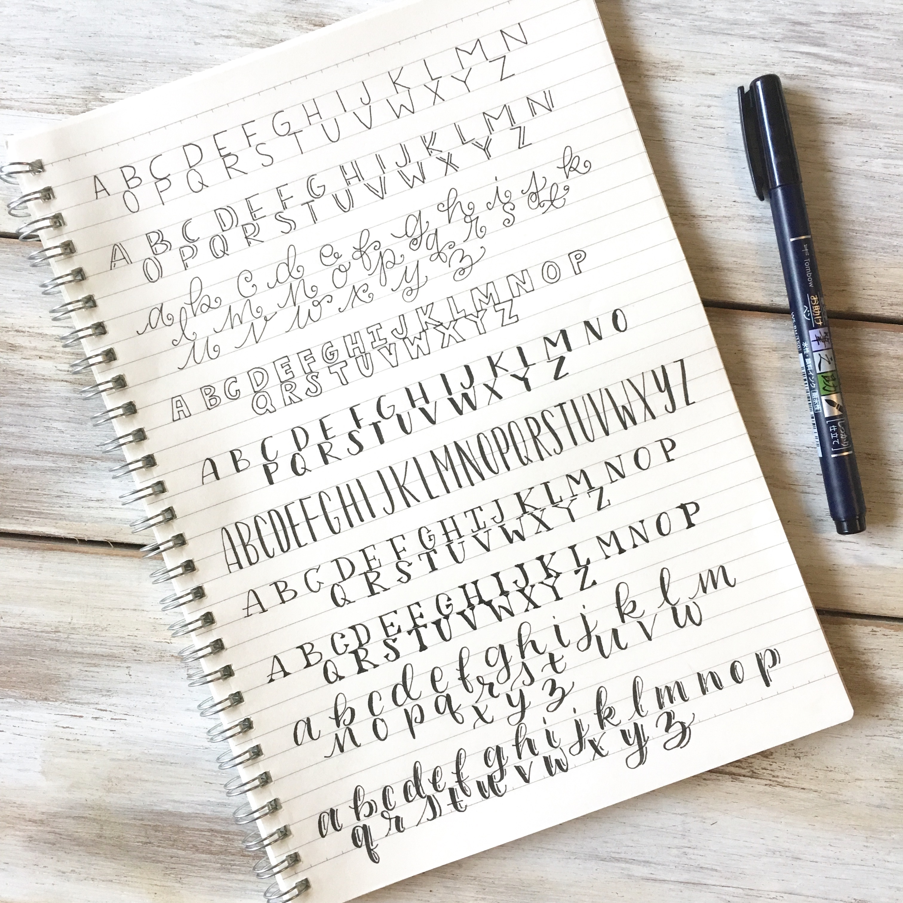 10 simple hand lettering styles plus a free cheat sheet 10 simple hand lettering styles plus a free cheat sheet scribbling grace expocarfo Gallery