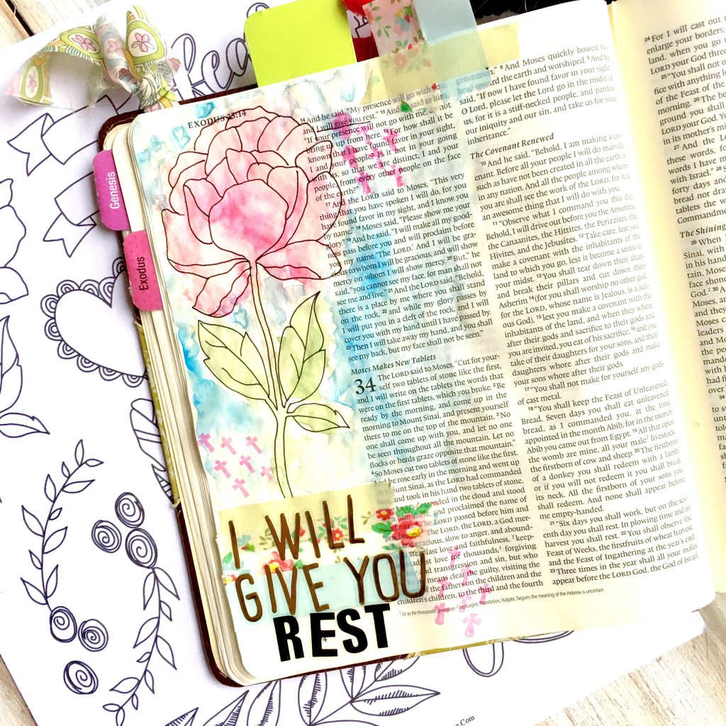 "Get your free Bible Journaling Elements Printable! Anyone can do Bible journaling! Even if you are not an ""artistic"" person! Here are four ways that even the un-artistic can create a beautiful journaling bible page!"