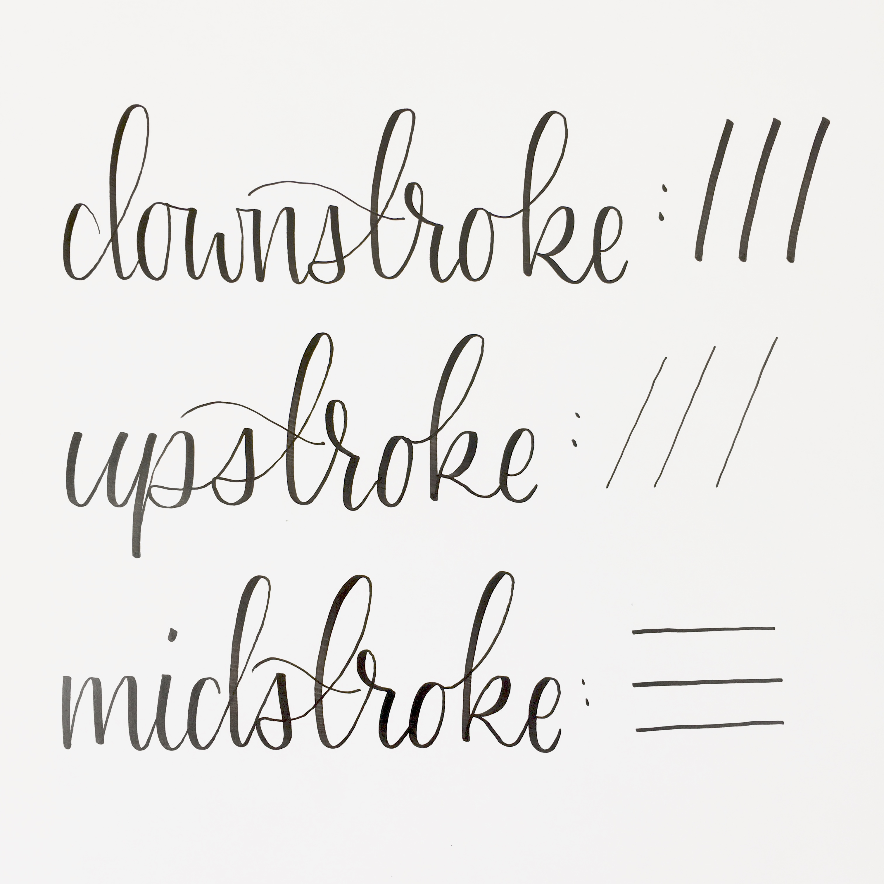 picture relating to Printable Calligraphy Worksheets identified as Brush Pen Calligraphy Fundamental principles- Additionally Free of charge Printable Train