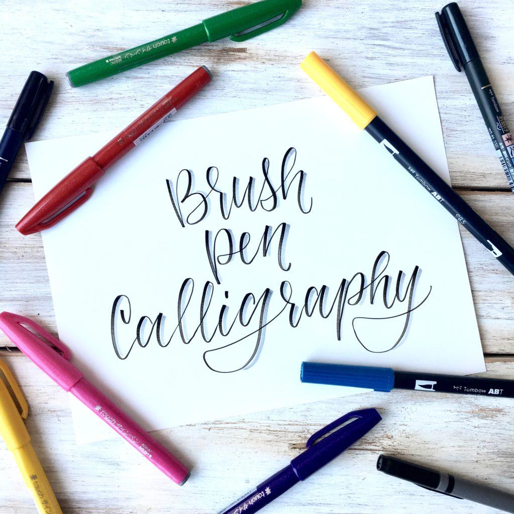 Brush Pen Calligraphy Basics Plus Free Printable Practice