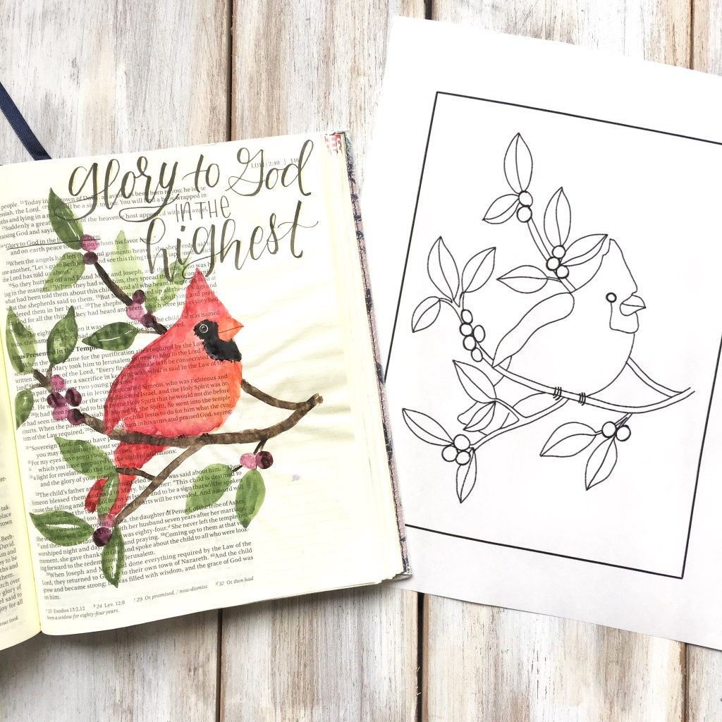 Christmas Bible Journaling Tutorial - Scribbling Grace