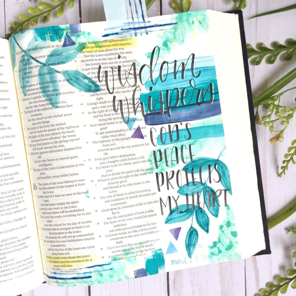 Bible Journaling With Mixed Media Plus A Free Printable