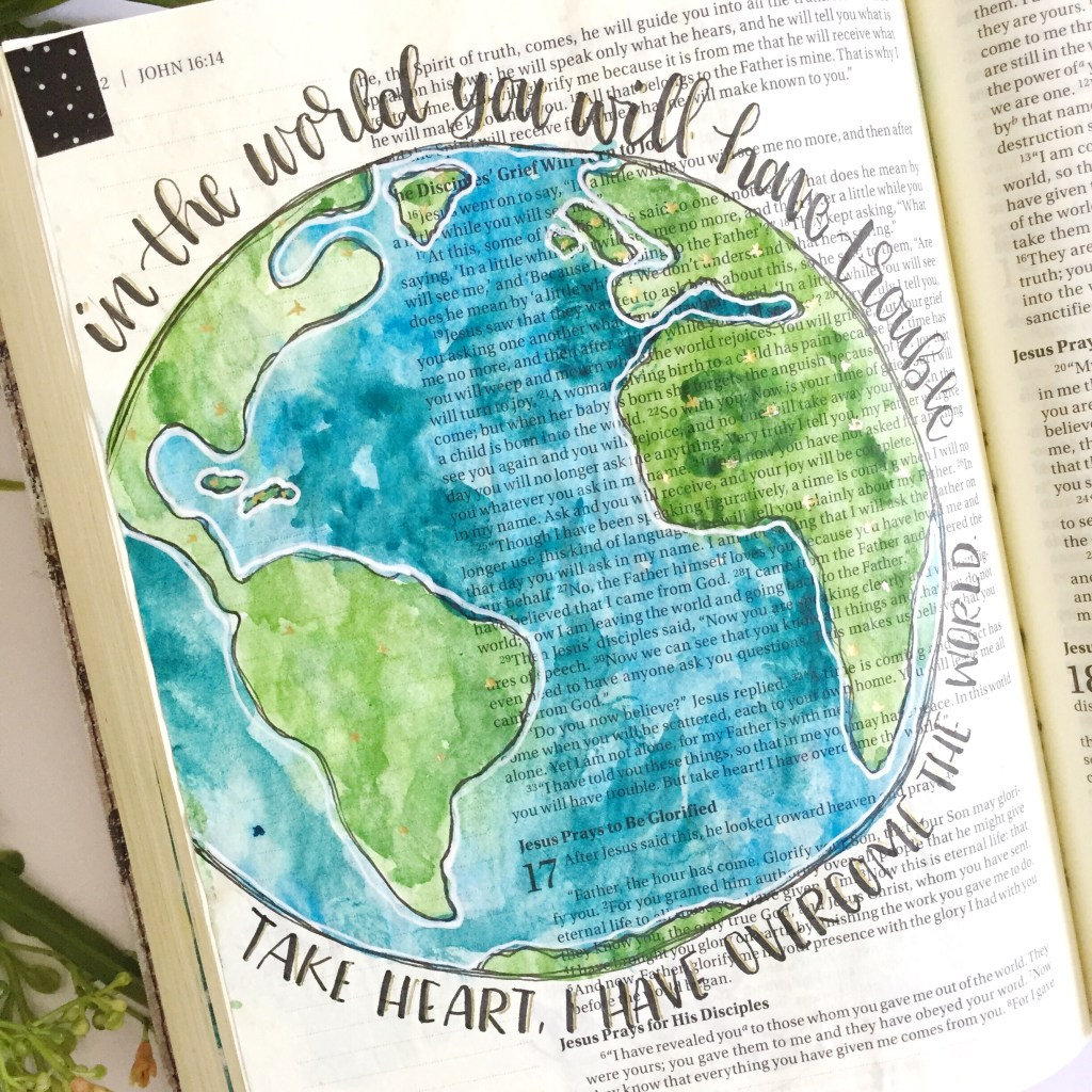 Easy Watercolor World Tutorial- Plus A Free Printable - Scribbling Grace