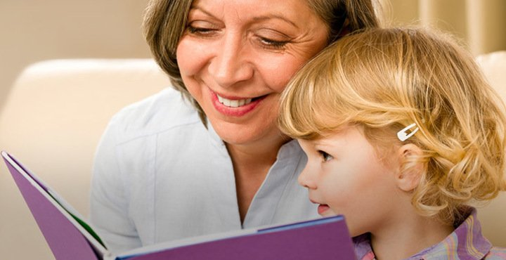 Image result for grandma reading books to children
