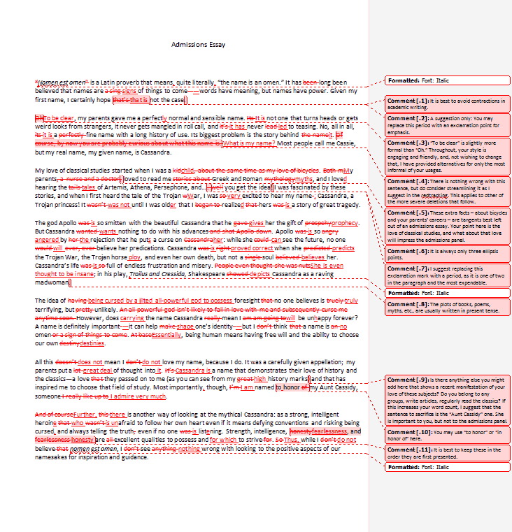 rutgers sample essay