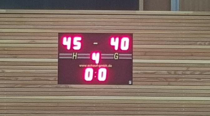 Schöner Sieg für die WU18 SCR Basketballerinnen