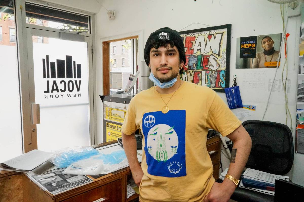 Arash Diba is the director of harm reduction at VOCAL NY, a key part of the organization's service arm.